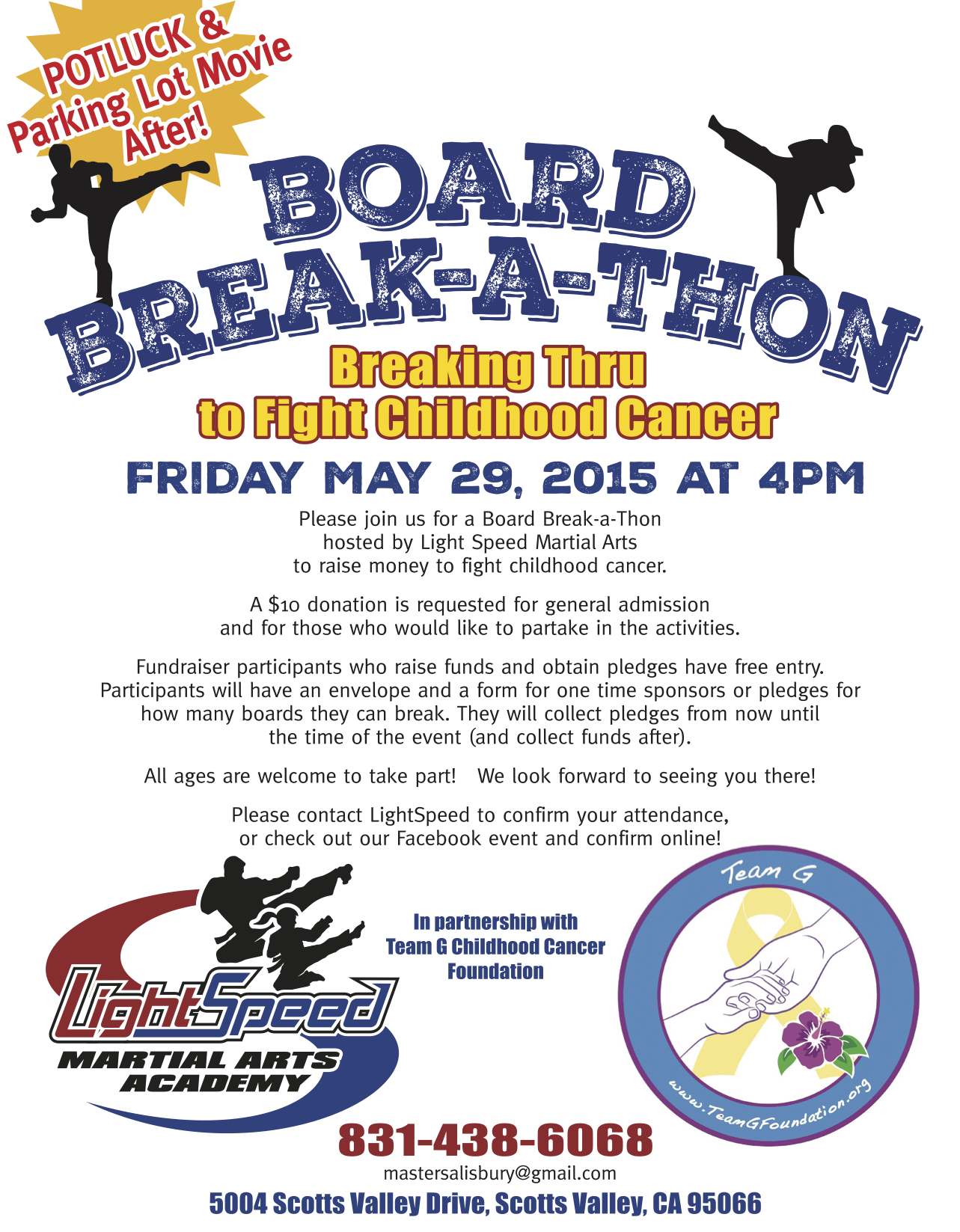 Breaking Boards to Fight Childhood Cancer